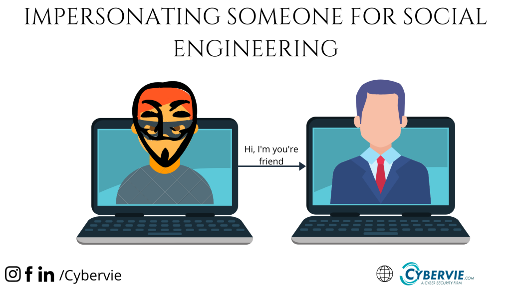 IMPERSONATING SOMEONE FOR SOCIAL ENGINEERING