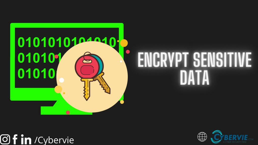 encrypt sensitive data
