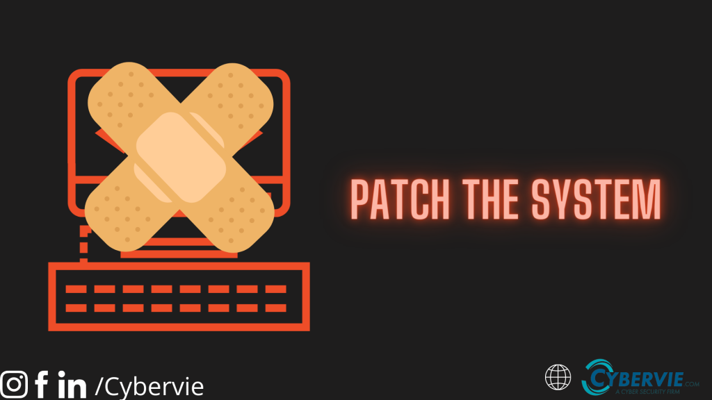 patch the vulnerability