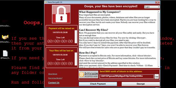Wannacry Ransomware Main Window   Cybervie