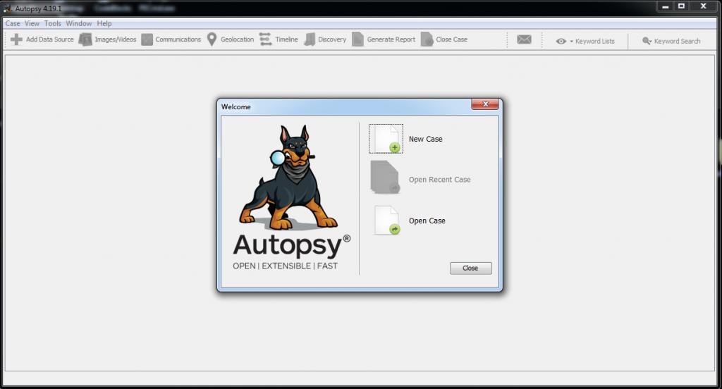 Autopsy Main Screen   Cybervie